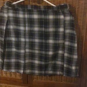 Lands' End Plaid Skirt